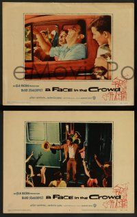 2w738 FACE IN THE CROWD 3 LCs '57 Andy Griffith took it raw like his bourbon & his sin, Elia Kazan