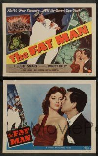 2w155 FAT MAN 8 LCs '51 circus worker pleads with detective J. Scott Smart, William Castle!