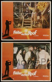 2w158 FIDDLER ON THE ROOF 8 LCs R79 Topol, Norma Crane, Leonard Frey, directed by Norman Jewison!