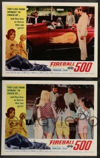 2w160 FIREBALL 500 8 int'l LCs '66 Frankie Avalon & sexy Annette Funicello, stock car racing images