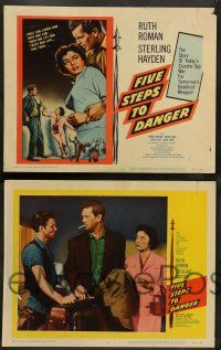 2w162 FIVE STEPS TO DANGER 8 LCs '57 Sterling Hayden, Ruth Roman, Cold War spies!