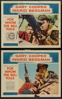 2w497 FOR WHOM THE BELL TOLLS 6 LCs R57 Gary Cooper & Ingrid Bergman, Hemingway!