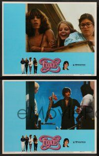 2w172 FOXES 8 LCs '80 Jodie Foster, Cherie Currie, Marilyn Kagen + super young Scott Baio!