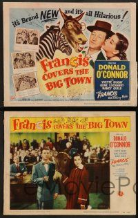 2w173 FRANCIS COVERS THE BIG TOWN 8 LCs '53 the talking mule, Donald O'Connor, Yvette Dugay!