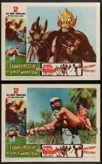 2w744 FRANKENSTEIN MEETS THE SPACE MONSTER/CURSE OF VOODOO 3 LCs '65 creature and native rituals!