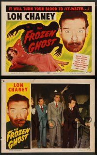 2w615 FROZEN GHOST 4 LCs R54 Universal horror, Lon Chaney Jr, it will turn your blood to ice-water!