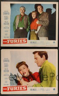 2w176 FURIES 8 LCs '50 Barbara Stanwyck, Wendell Corey, Walter Huston, Anthony Mann!