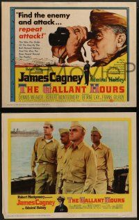2w177 GALLANT HOURS 8 LCs '60 James Cagney as Admiral Bull Halsey gets a shot, Dennis Weaver!