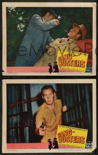 2w616 GANG BUSTERS 4 LCs '54 Myron Healey, based on hit TV and radio show!