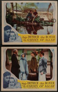 2w747 GARDEN OF ALLAH 3 LCs R45 Marlene Dietrich & Charles Boyer in a secret paradise of love!