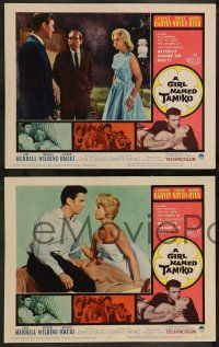 2w180 GIRL NAMED TAMIKO 8 LCs '62 John Sturges, Laurence Harvey used women without shame!