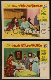 2w770 MA & PA KETTLE ON VACATION 3 LCs '53 wacky hillbillies Marjorie Main & Percy Kilbride!