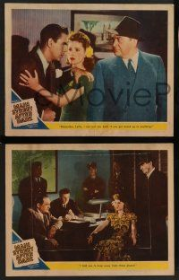 2w772 MAIN STREET AFTER DARK 3 LCs '45 Edward Arnold, Hume Cronyn, true story of girl gangsters!