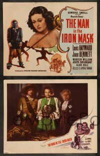 2w247 MAN IN THE IRON MASK 8 LCs R47 Louis Hayward, sexy Joan Bennett, directed by James Whale!