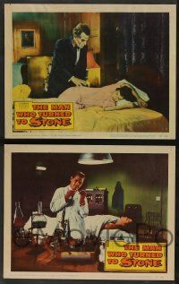 2w515 MAN WHO TURNED TO STONE 6 LCs '57 Victor Jory practices unholy medicine, cool horror art!