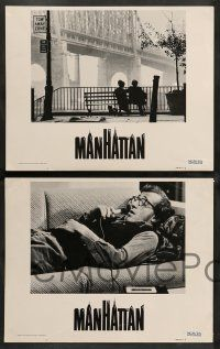 2w640 MANHATTAN 4 int'l LCs '79 one w/ classic image of Allen & Keaton on bench by bridge!