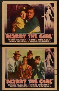 2w518 MARRY THE GIRL 6 LCs '37 images of Hugh Herbert, Mary Boland, and wonderful border art!