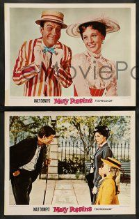 2w641 MARY POPPINS 4 LCs R80 Disney classic, Dick Van Dyke w/Julie Andrews & portraits!