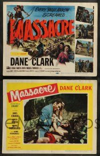 2w252 MASSACRE 8 LCs '56 Dane Clark, Native Americans, a woman's revenge, a man's greed!