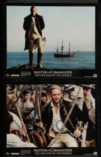 2w023 MASTER & COMMANDER 10 LCs '03 Russell Crowe, Paul Bettany, Peter Weir, Far Side of the World!