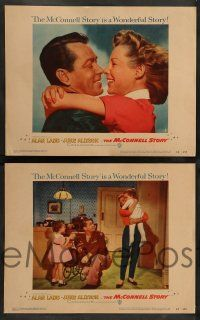 2w254 McCONNELL STORY 8 LCs '55 wonderful images of Alan Ladd, June Allyson, James Whitmore!