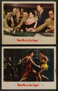 2w450 MEET ME IN LAS VEGAS 7 LCs '56 Cyd Charisse, Dan Dailey, Cara Williams, Paul Henreid!