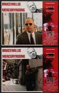 2w256 MERCURY RISING 8 LCs '98 FBI agent Bruce Willis protects autistic boy from Alec Baldwin!