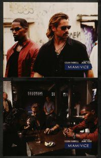 2w257 MIAMI VICE 8 LCs '06 Jamie Foxx & Farrell as Crockett & Tubbs, crime fighting duo!