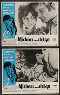 2w258 MICHAEL & HELGA 8 LCs '69 an adventure into the unexplored lands of love, is man an animal?