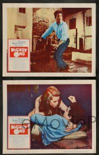 2w520 MICKEY ONE 6 LCs '65 Warren Beatty, Alexandra Stewart, directed by Arthur Penn!