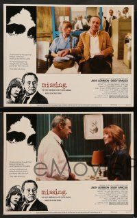 2w260 MISSING 8 LCs '82 Jack Lemmon, Sissy Spacek, directed by Costa-Gavras!