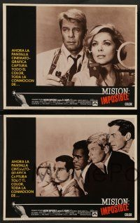 2w261 MISSION IMPOSSIBLE VS THE MOB 8 Spanish/U.S. export LCs '68 Peter Graves, Landau, Barbara Bain!