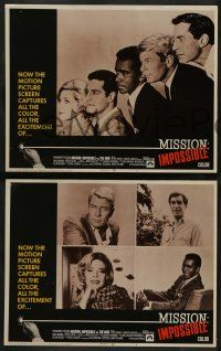 2w262 MISSION IMPOSSIBLE VS THE MOB 8 LCs '68 Peter Graves, Martin Landau, Barbara Bain, Morris!
