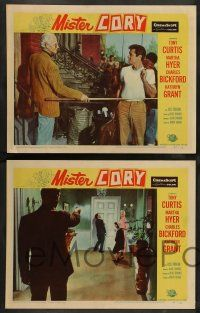 2w522 MISTER CORY 6 LCs '57 professional gambling poker player Tony Curtis & sexy Martha Hyer!