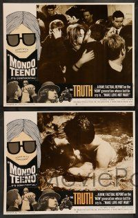 2w266 MONDO TEENO 8 LCs '67 truth about the NOW generation, make love-not war!