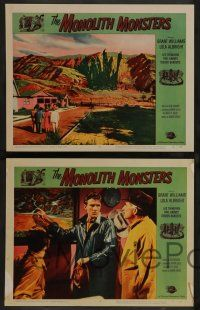 2w524 MONOLITH MONSTERS 6 LCs '57 Grant Williams, Lola Albright, cool sci-fi horror images!