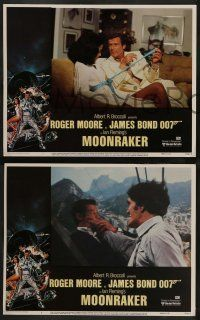 2w268 MOONRAKER 8 LCs '79 Roger Moore as James Bond, Richard Kiel, Lois Chiles