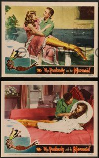 2w451 MR. PEABODY & THE MERMAID 7 LCs '48 William Powell & pretty mermaid Ann Blyth, fantasy!