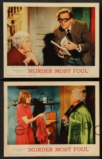 2w272 MURDER MOST FOUL 8 LCs '64 Margaret Rutherford as Agatha Christie's Miss Marple, Ron Moody!