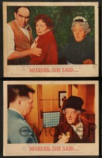 2w273 MURDER SHE SAID 8 LCs '61 detective Margaret Rutherford follows a strangler, Agatha Christie!
