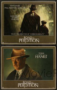 2w013 ROAD TO PERDITION 11 LCs '02 Sam Mendes directed, Tom Hanks, Paul Newman, Jude Law!