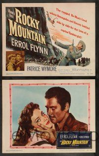 2w331 ROCKY MOUNTAIN 8 LCs '50 Errol Flynn, Patricia Wymore, William Keighley western!