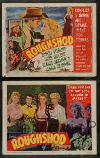 2w335 ROUGHSHOD 8 LCs '49 Robert Sterling, John Ireland, sexy bad girl Gloria Grahame!
