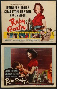 2w336 RUBY GENTRY 8 LCs '53 sleazy bad girl Jennifer Jones, Charlton Heston, directed by King Vidor