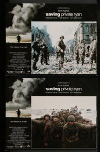 2w008 SAVING PRIVATE RYAN 12 LCs '98 Steven Spielberg, Tom Hanks, Tom Sizemore, Matt Damon, Davies!