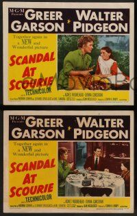 2w801 SCANDAL AT SCOURIE 3 LCs '53 pretty Greer Garson & Walter Pidgeon!