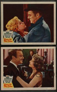 2w461 SCENE OF THE CRIME 7 LCs '49 Van Johnson w/ sexiest Gloria DeHaven and Arlene Dahl!