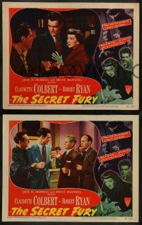 2w668 SECRET FURY 4 LCs '50 Claudette Colbert & Robert Ryan get married, directed by Mel Ferrer!