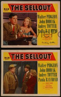 2w670 SELLOUT 4 LCs '52 John Hodiak, Mitchell, Malden, one signed by Audrey Totter!