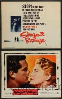2w344 SERGEANT RUTLEDGE 8 LCs '60 John Ford, Jeffrey Hunter, Constance Towers!